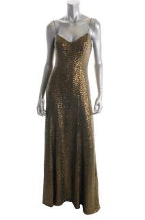 Ralph Lauren New Modern Glamour Green Sequined Full Length Semi Formal