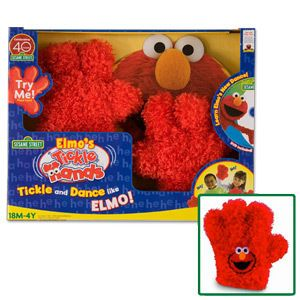 Sesame Street ELMO Plush Red Tickle Me Hands NeW DVD 18 mos up Fisher