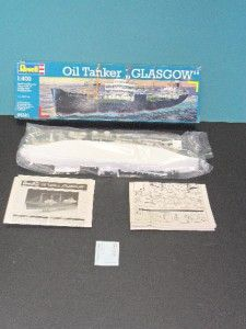 REVELL MODEL KIT OIL TANKER GLASGOW 1/400 #05221 UNNASSEMBLED AND