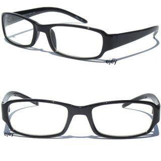 Black Frame Smart Glasses Nerd Teacher Student Clear Lens Retro
