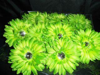 WHOLESALE LOT 12 GERBERA DAISY flower BRIDAL crafts BOUQUET hair TUTU