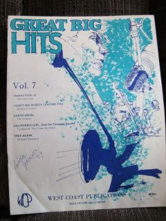 Great Big Hits Sheet Music Book