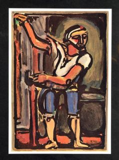 Judas Passion Portrait Georges Rouault Original Historic Image
