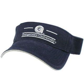 NCAA Georgetown Hoyas Bulldogs Navy Blue Gray Visor Hat Cap Licensed