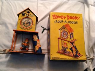Howdy Doody Clock A Doodle w Box Excellent Condition