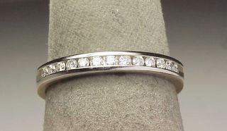 14k White Gold Diamond Band Ring