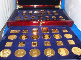 25 Pure 999 Silver Stamp 24 Karat Gold Plate 25 Ingots Postal