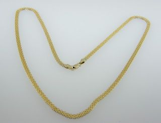 Fine Estate 14k Two Tone Gold Reversible Chain Necklace