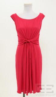 Giambattista Valli Pink Silk Gathered Sleeveless Dress Size 38 XXS