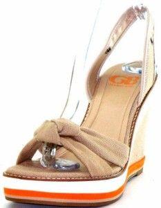Gianni Bini High Tide Womens Wedge Sandals Shoes 7 5