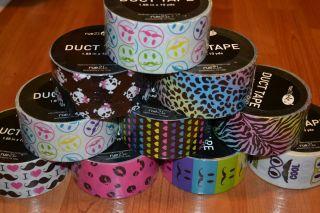 Rainbow Leopard Zebra Mustache Heart Duct Tape New Designs