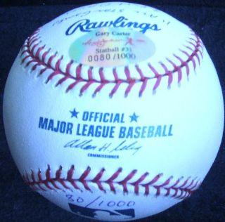 Gary Carter Signed Baseball 15 Stats Ball Autographed Ball Reggie