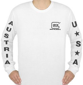 Glock Authorized Apparel Shooting Sports White Long Sleeve T Shirt