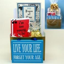 1922 Golden Years Gift Package 90th Birthday Gift Basket