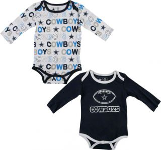 Dallas Cowboys New Born Navy Little Buddy 2 Pack Set