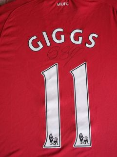 11 12 Season Ryan Giggs Signed Manchester United Soccer Shirt COA