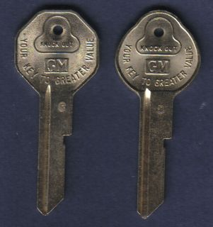Corvette Camaro Nova Chevelle SS Vintage 1968 GM Key Blanks