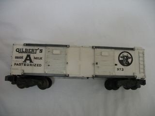 American Flyer S Gauge Gilberts Milk Boxcar 973 White