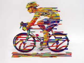David Gerstein Modern Art Champion Bicycle Racer Metal Print Sculpture