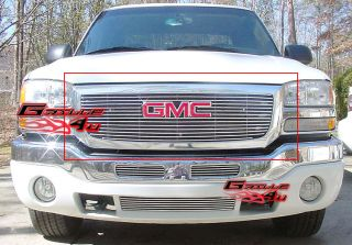 03 06 GMC Sierra 1500 2500HD 3500 Stainless Steel Billet Grille