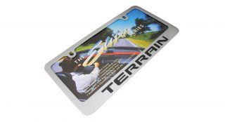 GMC Terrain Chrome Brass License Plate Frame
