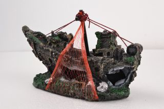 new fish ornament goldfish bowl Net pirate ship for Aquarium fish tank