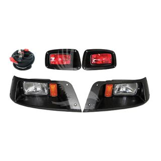 EZ GO TXT Light Kit Golf Cart Headlight Taillight Kit Super Saver