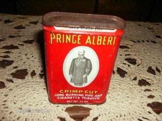 Vintage Prince Albert Crimp Cut Tobacco Storage Tin Can