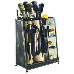 Garage Golf Bag Storage Utilty Sports Rack Organizer Stand Remote Cart