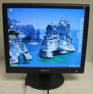Gateway FPD1765 17 inch Flat Panel LCD Monitor Display VGA DVI 265H