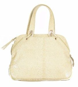 Gianni Bini Rumer Croco Embossed Womens Sand Medium Satchel Purse