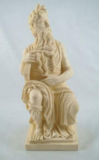 Vintage Gino Ruggeri Resin Sculpture Moses and Ten Commandments Italy