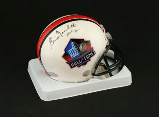 Gino Marchetti Signed Football Hall of Fame Mini Helmet PSA DNA