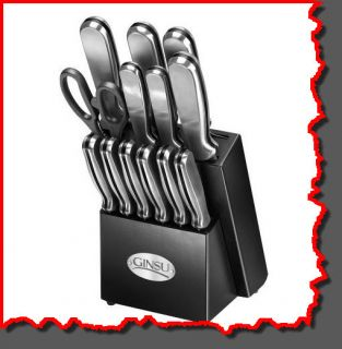 New Ginsu 14 Piece Cutlery Stainless Steel Knife Set PC
