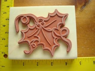 New Giant Christmas Holly and Berry Card Size by Anitas Rubber Stamp