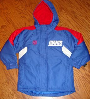 New York Giants Team NFL Winter Youth Hooded Parka Jacket