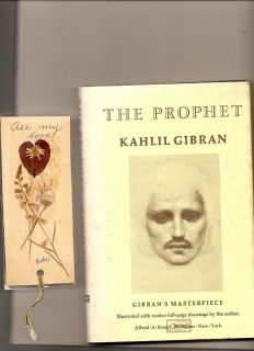Prophet The by Kahlil Gibran 1981 Printing Includes Bookmark HC