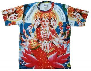 Gayatri Mata Hindu Mantra Deity Shiva Tattoo Designer Painting Art T
