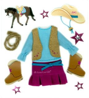 American Girl Crafts Doll Clothes Western Style Cowgirl Dress Boots