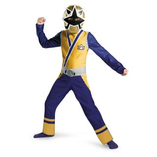 Power Rangers Gold Ranger Samurai Classic Costume Child New