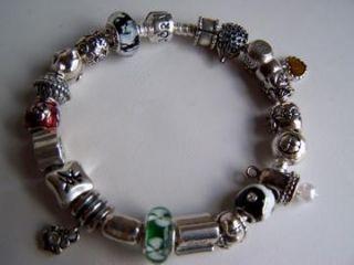 Authentic Pandora Good Luck Charm Bracelet 21 Charms