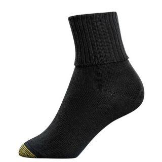 Gold Toe Womens Socks Bermuda Quarter Black 3 Pairs