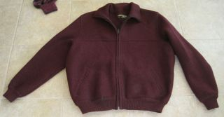 Geiger Tyrol Mens Jacket Sz 52 US 41 Bomber Coat Wool Maroon