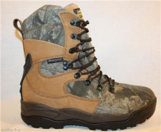 Golden Retriever Waterproof Camo Leather Boots w E 11 5