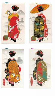 Silk Image 4 Geisha 1 ea Summer Spring Autumn Winter