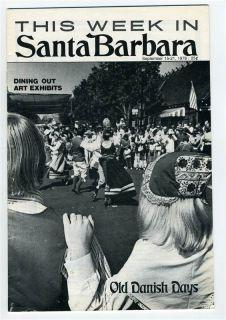 This Week in Santa Barbara Californai September 1978 Old Danish Days