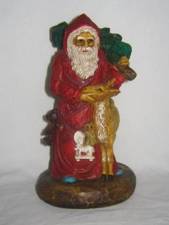 1988 Ron Gordon Old Style Santa Wood Figurine