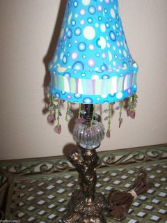 Cherub Table Lamp Shade Art Deco Style with Glass Ball 17 1 2 Tall