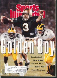Sports Illustrated Rick Mirer Gene Stallings Cecil Fielder 9 24 1990