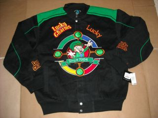 BRAND NEW ADULT GENERAL MILLS LUCKY CHARMS EMBROIDERED TWILL JACKET 2X